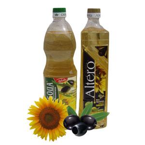 оливковое + подсолнечное масло