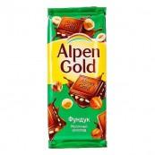 Шоколад молочный Alpen Gold «Фундук» 90гр.