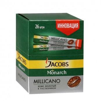 Кофе Jacobs Monarch Millicano молотый в растворимом 26пак.
