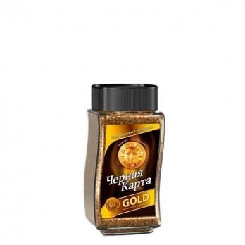 Кофе Чёрная карта «Gold» растворимый сублимированный 50гр.