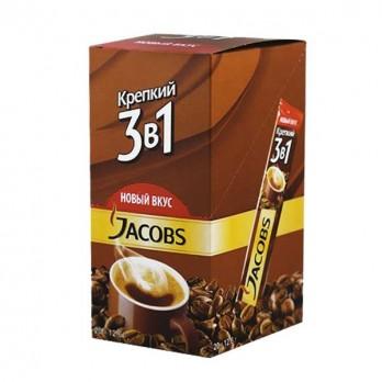 Напиток кофейный Jacobs 3в1 Крепкий 24пак.