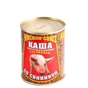 Каша гречневая со свининой в ас-те  340гр.