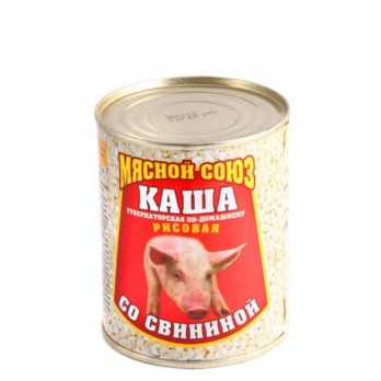 Каша Мясной Союз рисовая со свининой  340гр.