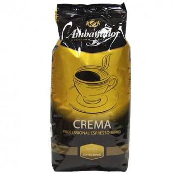 Кофе Ambassador Crema в зернах 1кг.
