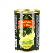 Оливки зеленые Maestro de Oliva с лимоном 300гр.