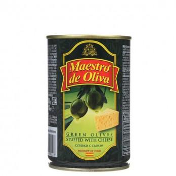 Оливки зеленые Maestro de Oliva с сыром 300гр.