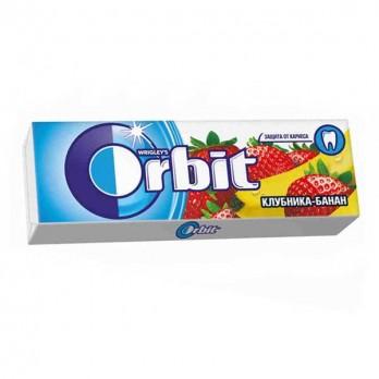 Жевательная резинка Orbit клубника/банан 13,6гр.