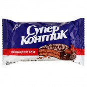 Печенье-сэндвич Konti Супер-Контик шоколадный вкус 100гр.
