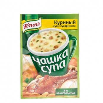Суп куриный Knorr Чашка супа с сухариками 16гр.