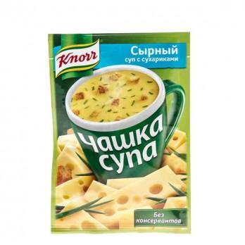 Суп сыр/грибы Knorr Чашка супа с сухариками 16гр.