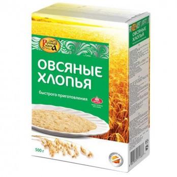 Хлопья овсяные Русская Каша  500гр.