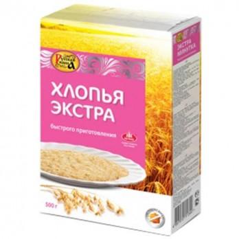 Хлопья овсяные Русская Каша экстра  500гр.