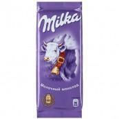 Шоколад молочный Milka с альпийским молоком 90гр.