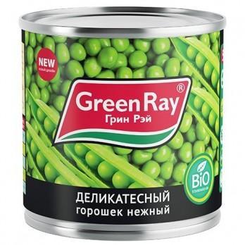 Горошек Грин Рей зеленый деликатесный нежный 400гр.