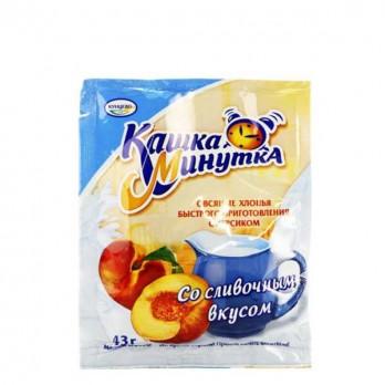 Кашка «Минутка» Кунцево с персиком с/слив. 43гр.