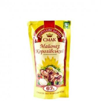 Майонез Королевский вкус столовый 67% 180гр.