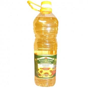 Масло подсолнечное Кубанский Маслодел рафинированное 2л.