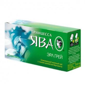 Чай зеленый Принцесса Ява «Эрл Грей» 25пак.