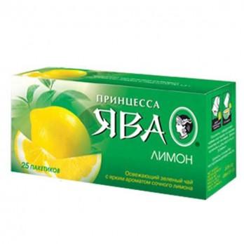 Чай зеленый Принцесса Ява «Лимон» 25пак.