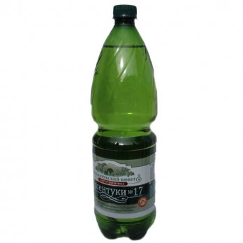 Вода минеральная Есентуки №17 (Источники Кавказа) газированная лечебная 1,5л.