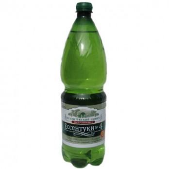 Вода минеральная Есентуки №4 (Источники Кавказа) газированная лечебная 1,5л.