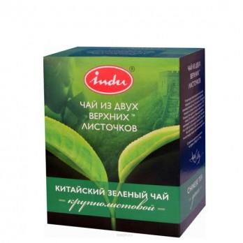 Чай зеленый Инду  «Крупнолистовой» 100гр.