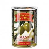 Оливки зеленые Maestro de Oliva гигантские без косточки 420гр.