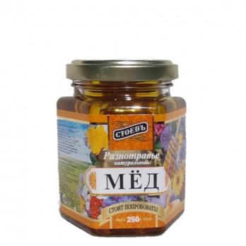 Мед разнотравье Стоевъ натуральный 250гр.