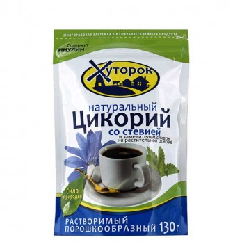 Цикорий Бабушкин хуторок натуральный растворимый со стевией 130гр.
