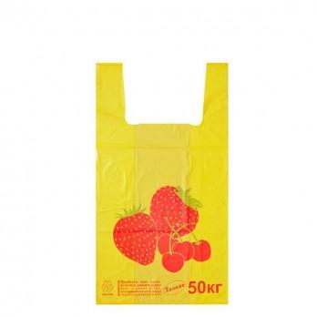 Пакет майка «Клубника» 30*55см.