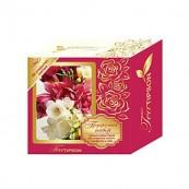 Чайный набор Tipson «3D открытка-магнит, салфетка и чай. Розовый»