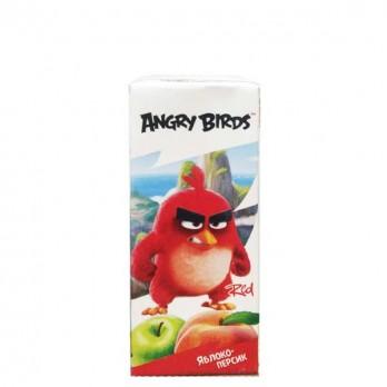 Нектар с мякотью детский Angry Birds яблочно-персиковый 0,2л.