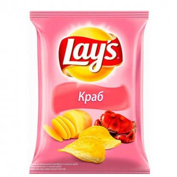 Чипсы Lays Краб 150гр.