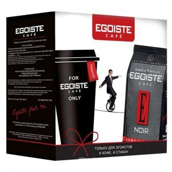 Подарочный набор кофе Egoiste Noir в зернах 250гр.+стакан