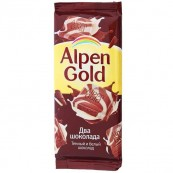 Шоколад Alpen Gold два шоколада 90гр.