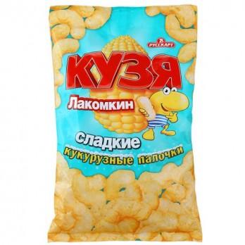 Кукурузные палочки Кузя Лакомкин сладкие 140р.