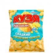 Кукурузные палочки Кузя Лакомкин сладкие 85гр.