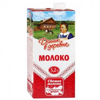 Молоко «Домик в деревне» 3,2% 1л.