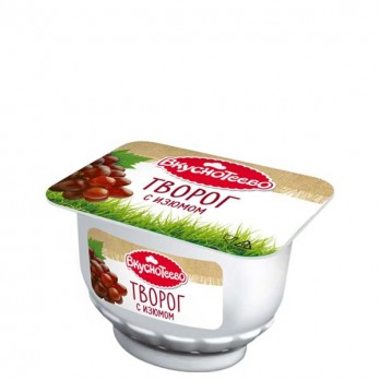 Творог Вкуснотеево с изюмом 9% 175гр.