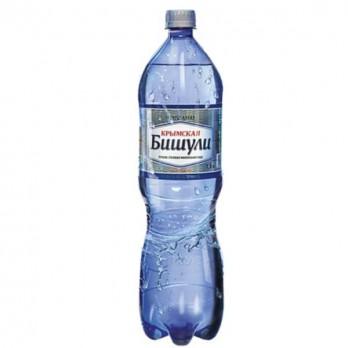 Вода минеральная Крымская Бишули газированная 1,5л.