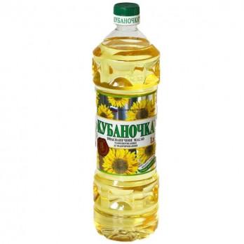 Масло подсолнечное Кубаночка рафинированное 1л.