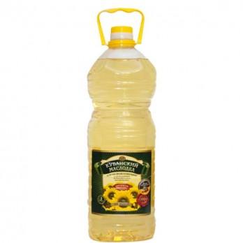 Масло подсолнечное Кубанский Маслодел рафинированное 3л.