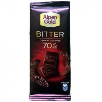 Шоколад Alpen Gold Bitter 70%  90гр.
