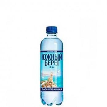 Вода питьевая Южный берег газированная 0,5л.