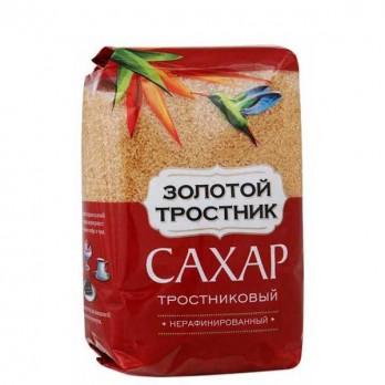 Сахар-песок тростниковый Золотой тростник 1 кг.