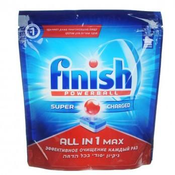 Таблетки для посудомоечных машин Finish «All in 1 max» Лимон 65 шт.