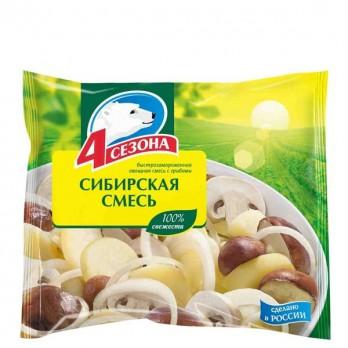 Смесь овощная «4 сезона» Сибирская смесь 400гр.