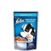 Корм для кошек Felix с форелью в желе 85 гр.