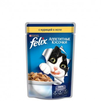 Корм для кошек Felix с курицей в желе 85 гр.