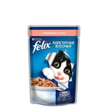 Корм для кошек Felix с лососем в желе 85 гр.